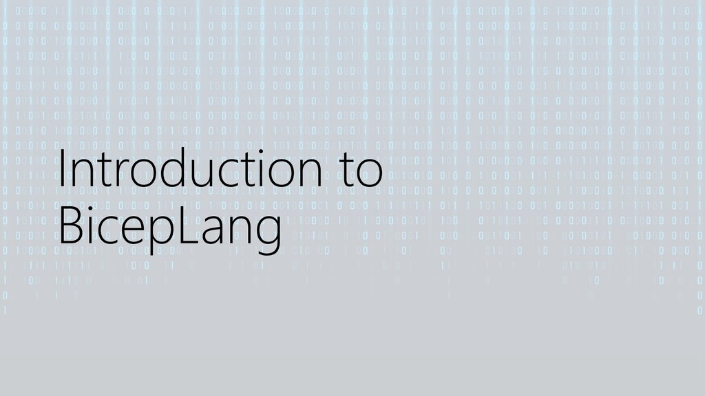 Introduction to BicepLang