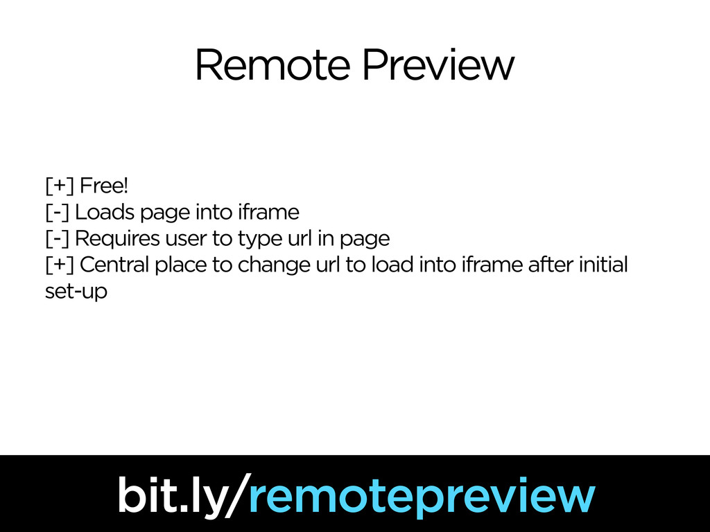 Remote Preview [+] Free! [-] Loads page into if...