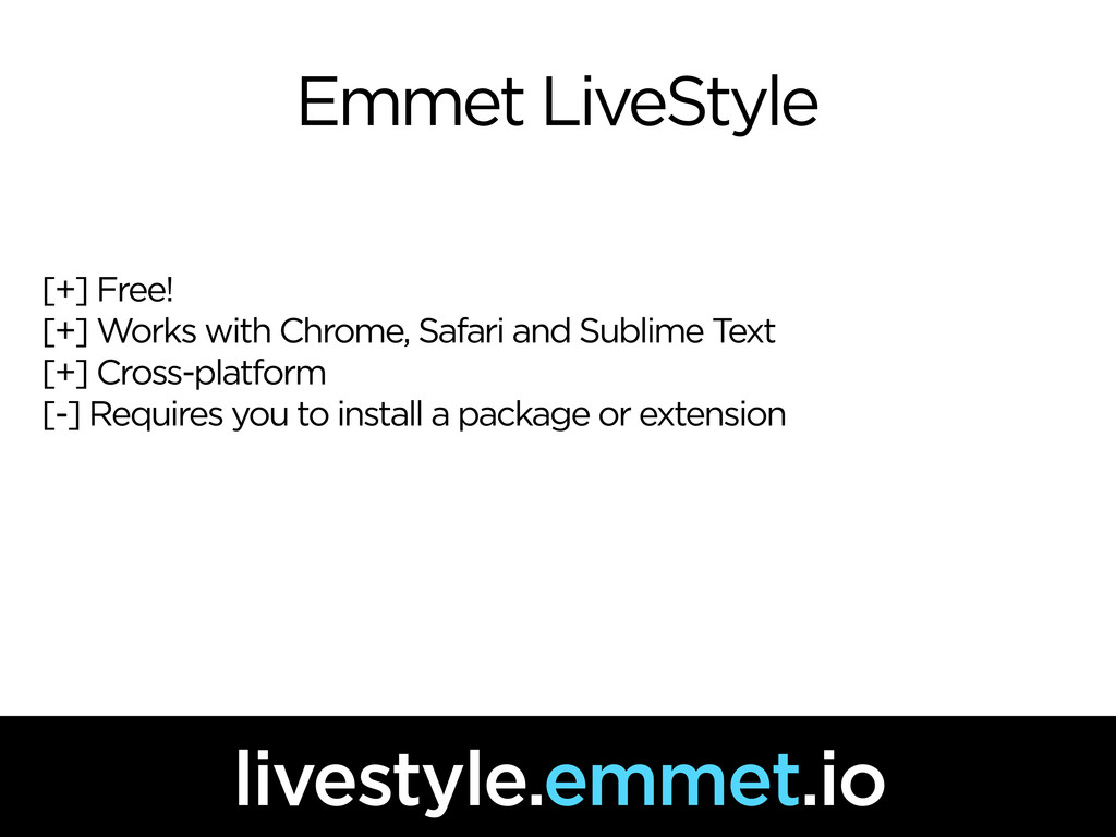 Emmet LiveStyle [+] Free! [+] Works with Chrome...