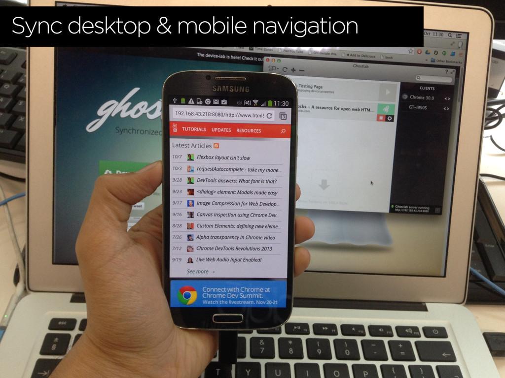 Sync desktop & mobile navigation