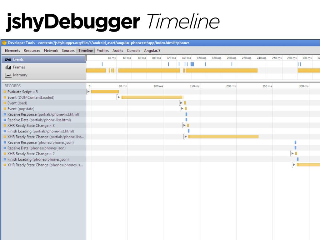 jshyDebugger Timeline