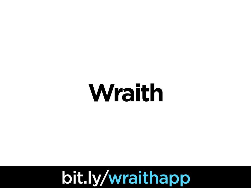 Wraith bit.ly/wraithapp