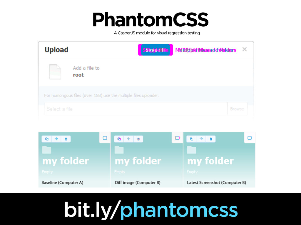 PhantomCSS bit.ly/phantomcss A CasperJS module ...