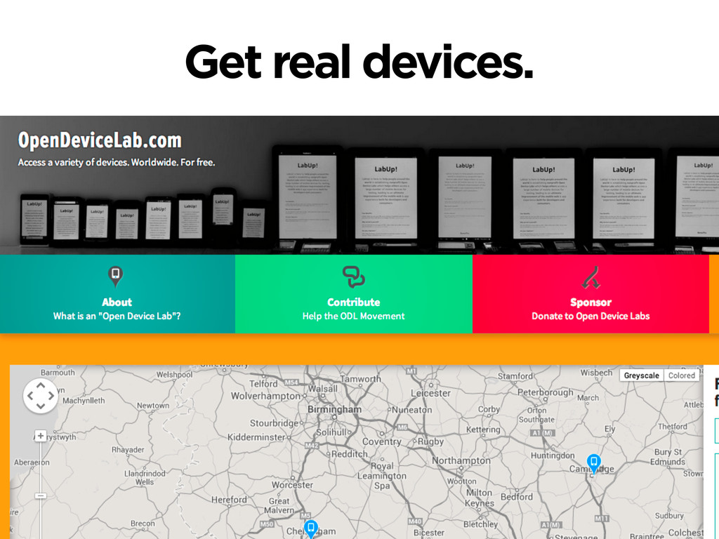 Get real devices.