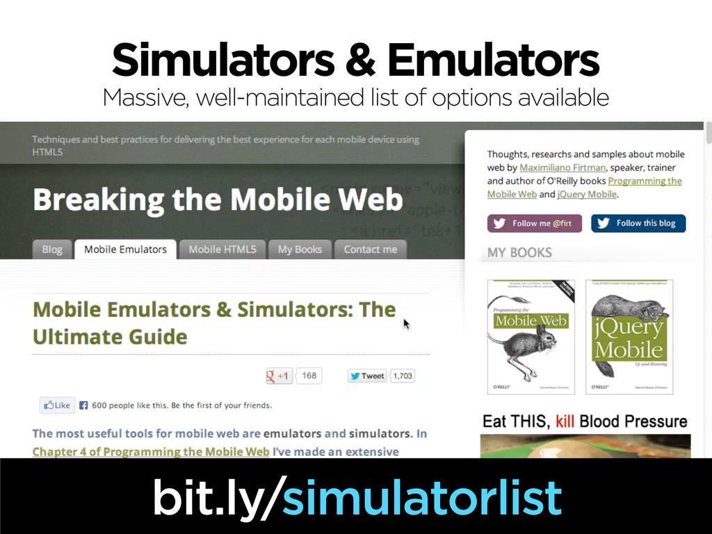 Simulators & Emulators bit.ly/simulatorlist Mas...