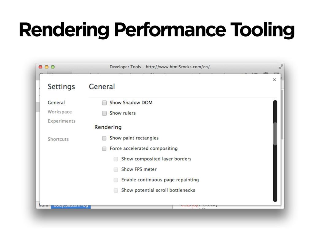 Rendering Performance Tooling