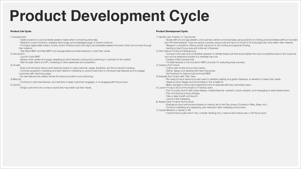 Product Development Cycle Product Life Cycle: !...