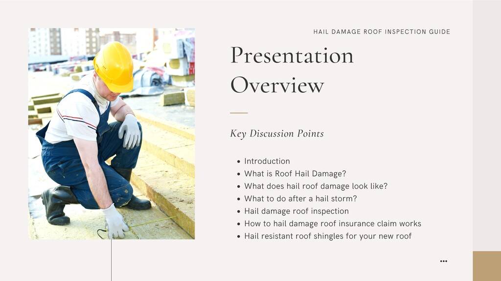 HAIL DAMAGE ROOF INSPECTION GUIDE Presentation ...
