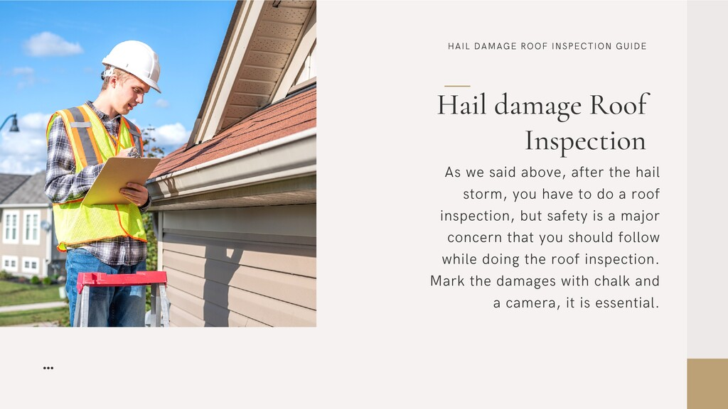 HAIL DAMAGE ROOF INSPECTION GUIDE Hail damage R...