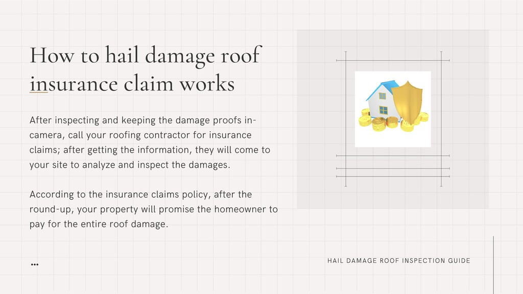How to hail damage roof insurance claim works H...
