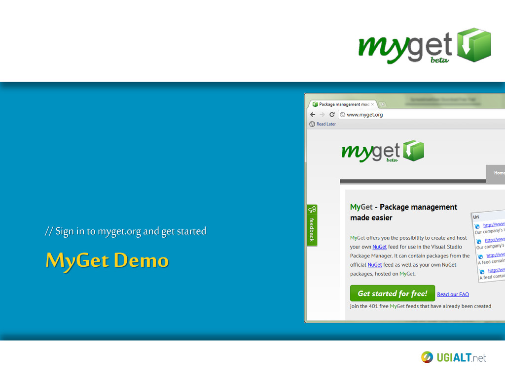 MyGet Demo // Sign in tomyget.org and get start...