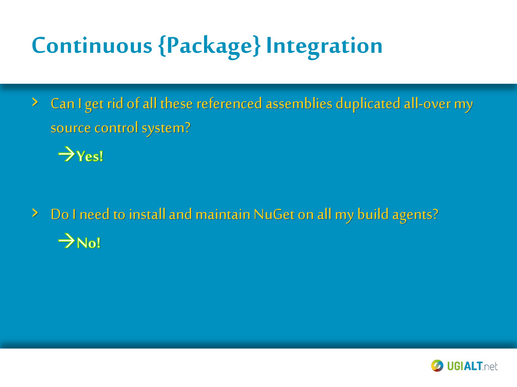 Continuous {Package} Integration › Can I get ri...