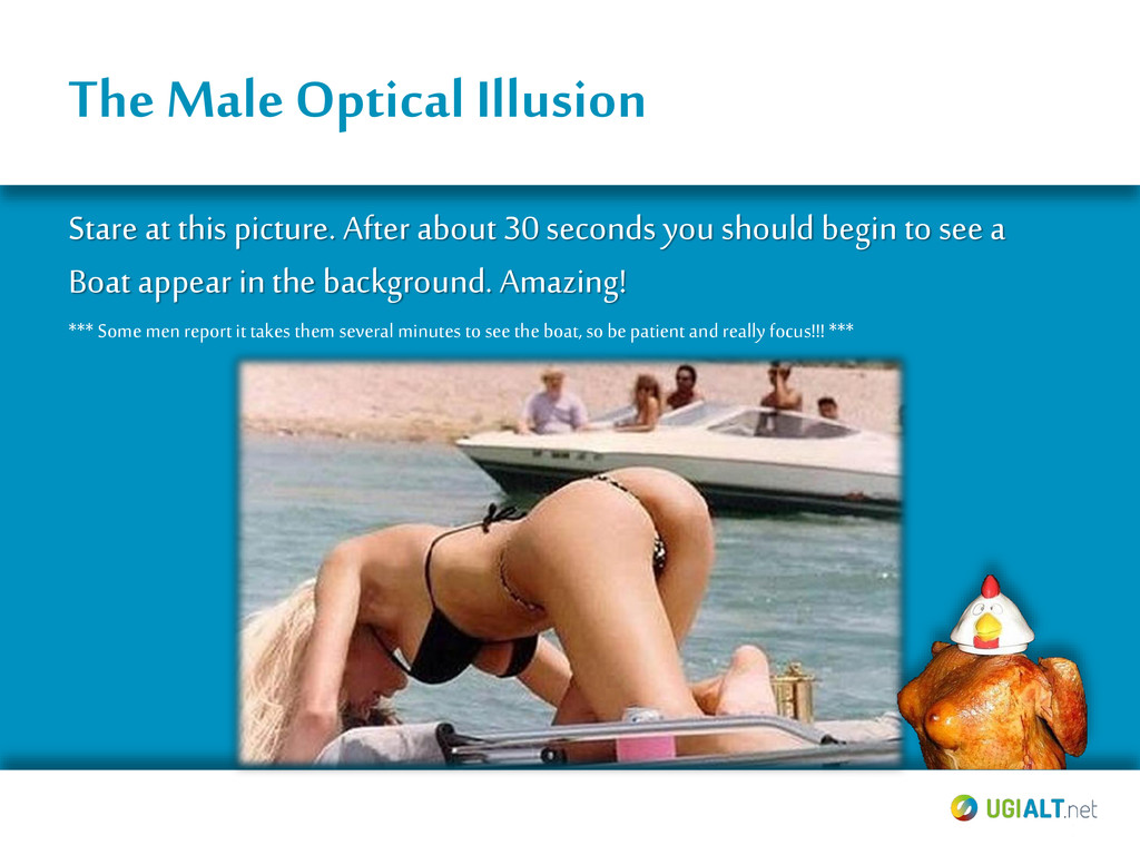 The Male Optical Illusion Stare at this picture...