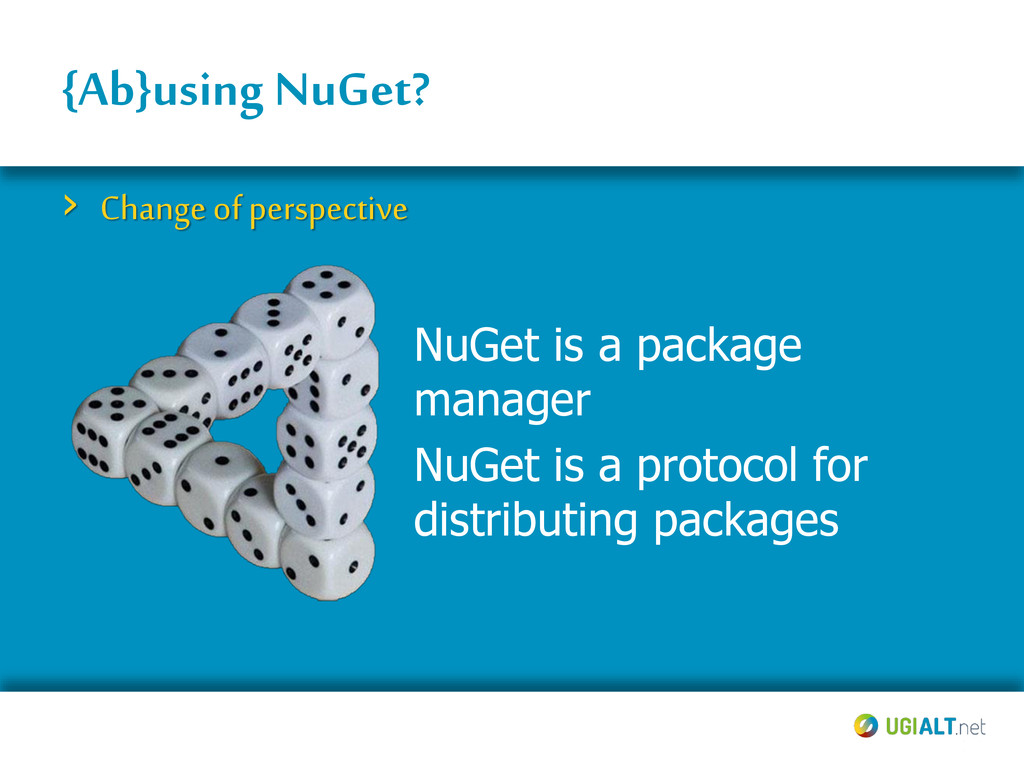 {Ab}using NuGet? › Change of perspective NuGet ...