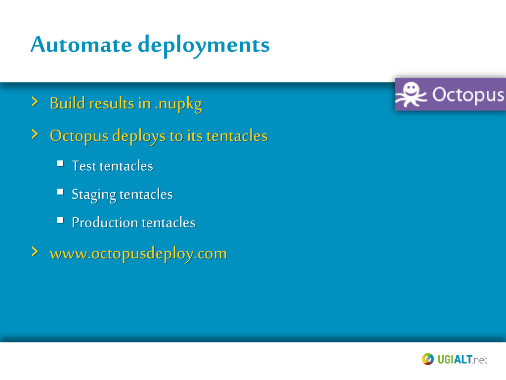 Automate deployments › Build results in .nupkg ...