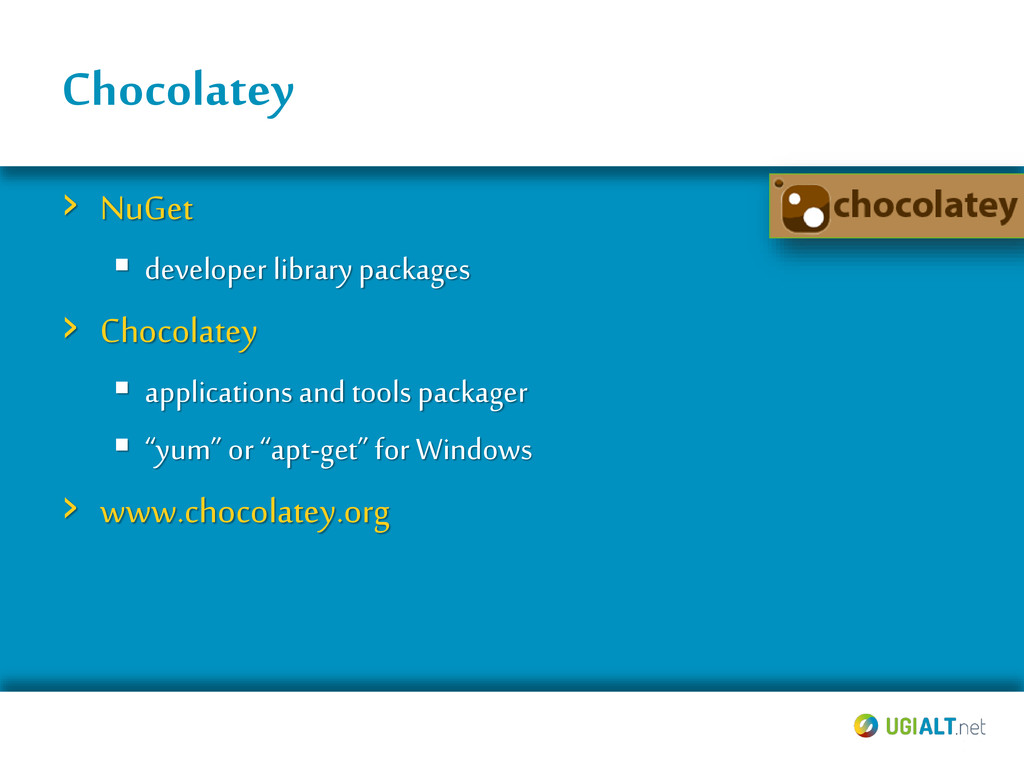 Chocolatey › NuGet  developer library packages...