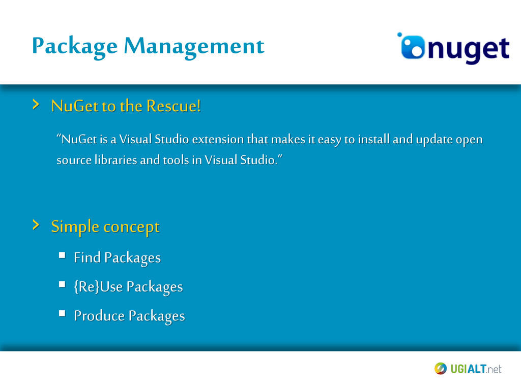 Package Management › NuGet to the Rescue! › Sim...