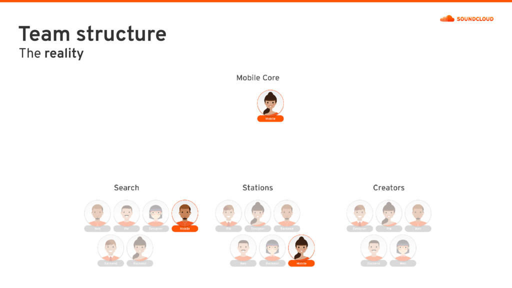 Team structure The reality