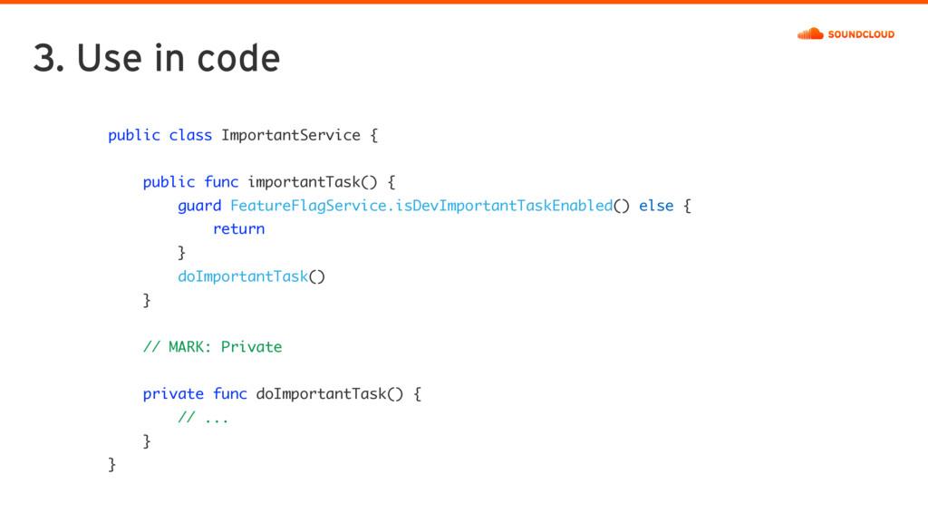 public class ImportantService { public func imp...