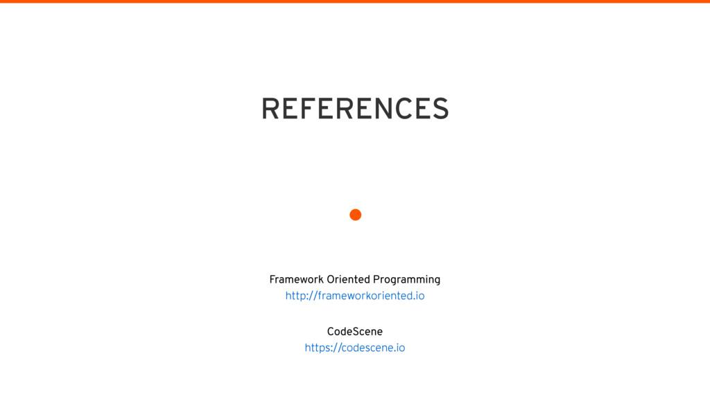 . Framework Oriented Programming http://framew...