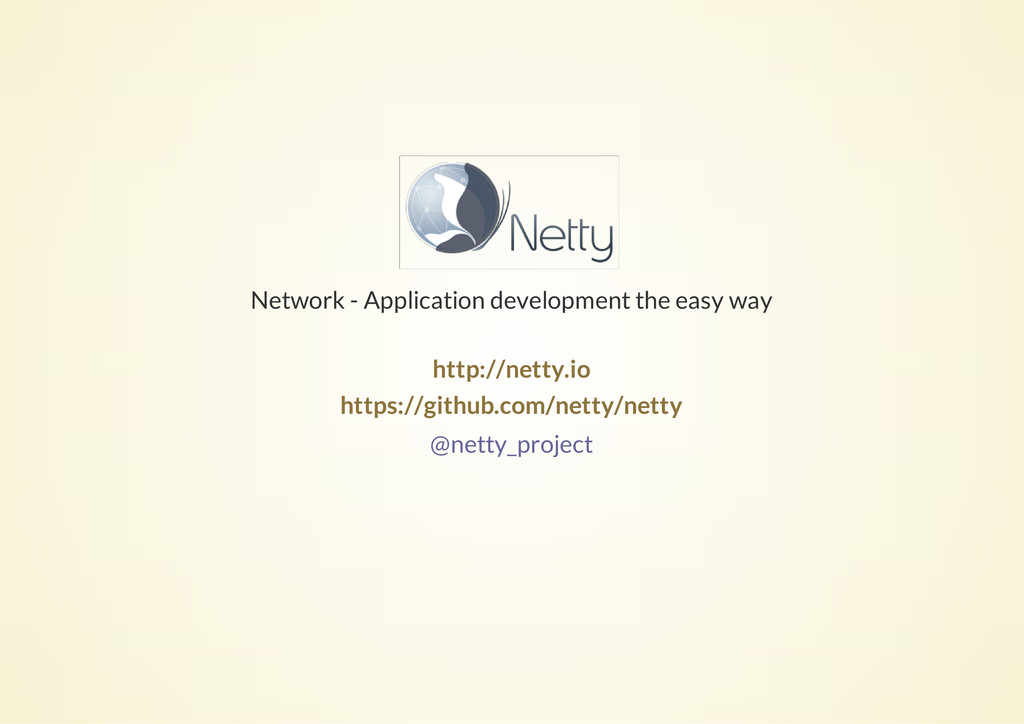 Network - Application development the easy way ...