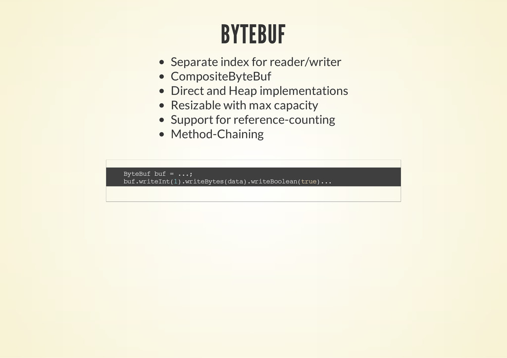 BYTEBUF Separate index for reader/writer Compos...