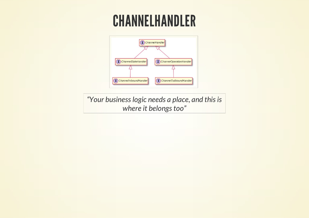 "CHANNELHANDLER ""Your business logic needs a pla..."