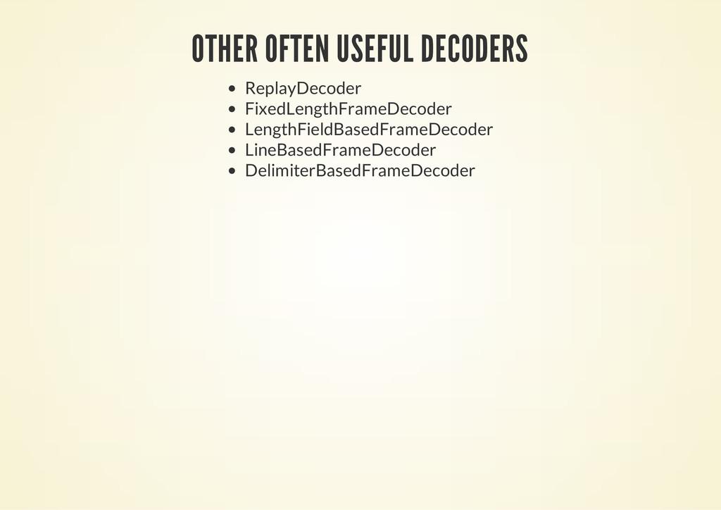 OTHER OFTEN USEFUL DECODERS ReplayDecoder Fixed...
