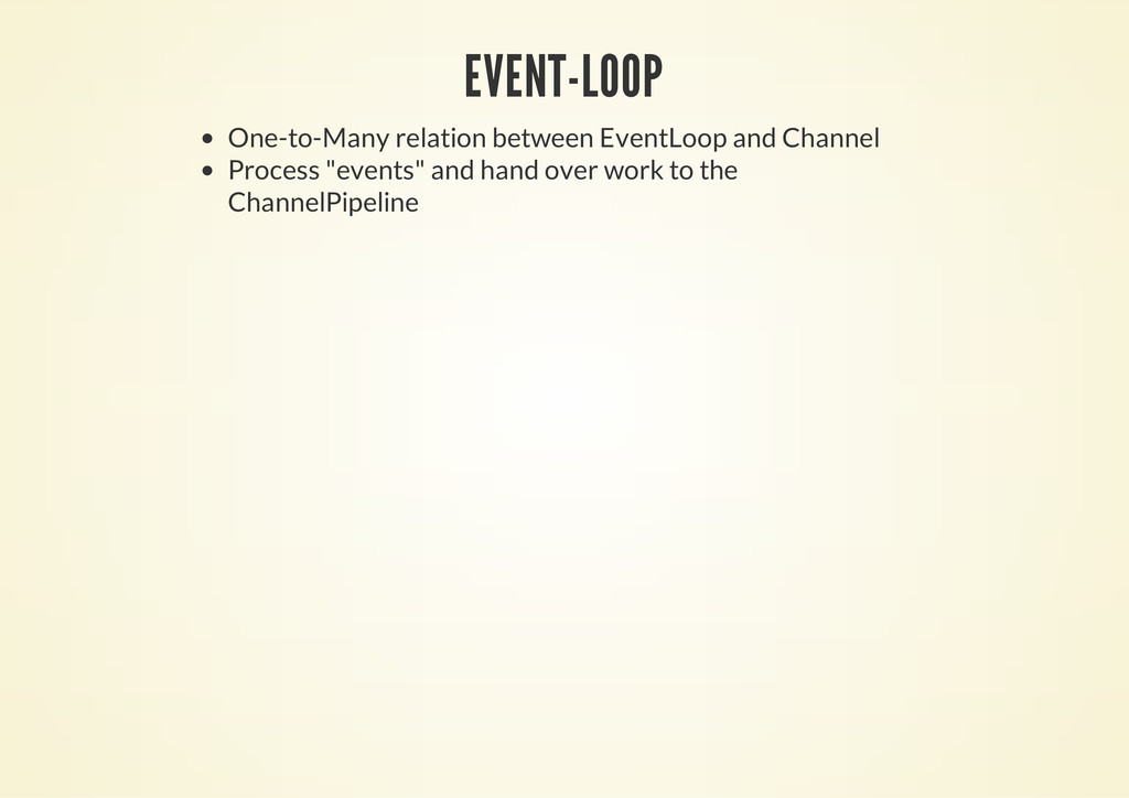 EVENT-LOOP One-to-Many relation between EventLo...