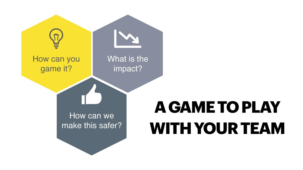 How can you game it? How can we make this safer...