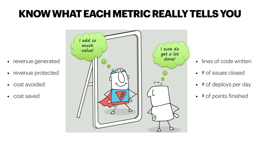KNOW WHAT EACH METRIC REALLY TELLS YOU • lines ...