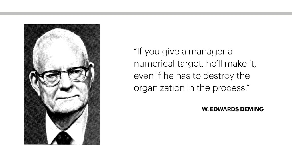 """W. EDWARDS DEMING """"If you give a manager a nume..."""