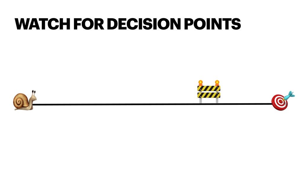 WATCH FOR DECISION POINTS