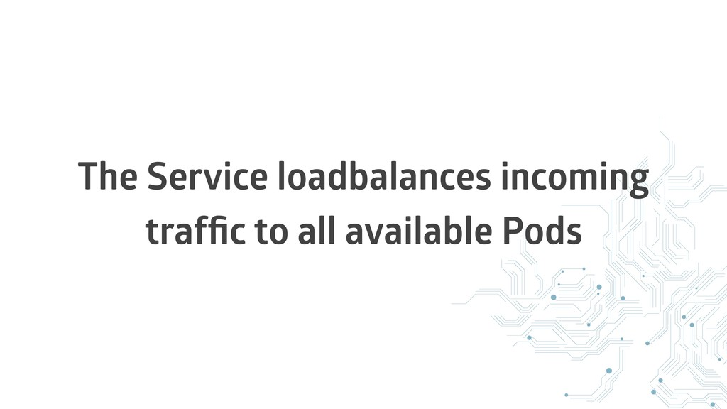 The Service loadbalances incoming traffic to all...