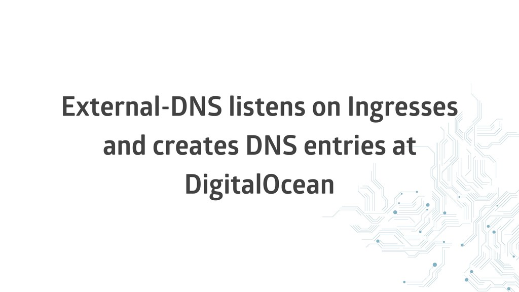 External-DNS listens on Ingresses and creates D...