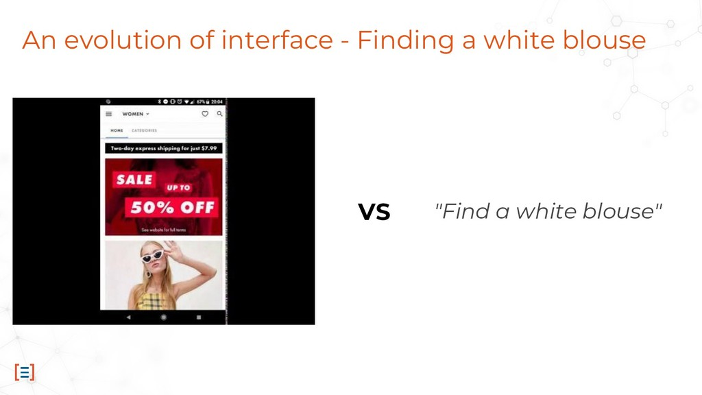 An evolution of interface - Finding a white blo...