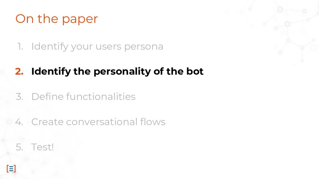 On the paper 1. Identify your users persona 2. ...