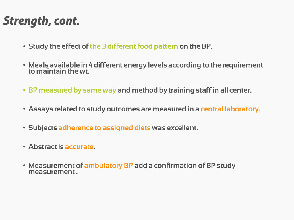 Strength, cont. • Study the effect of the 3 dif...