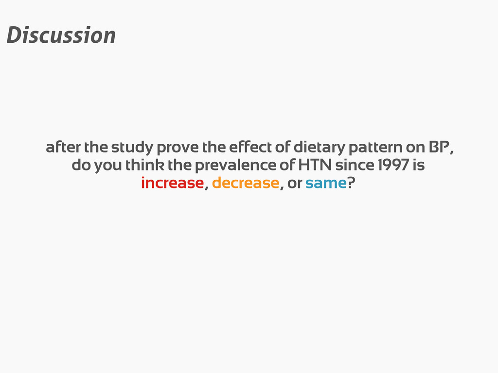 Discussion after the study prove the effect of ...
