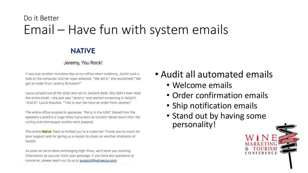 Do it Better Email – Have fun with system email...