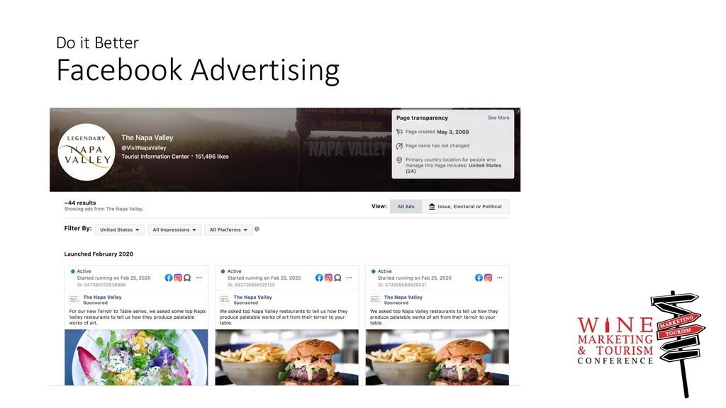 Do it Better Facebook Advertising