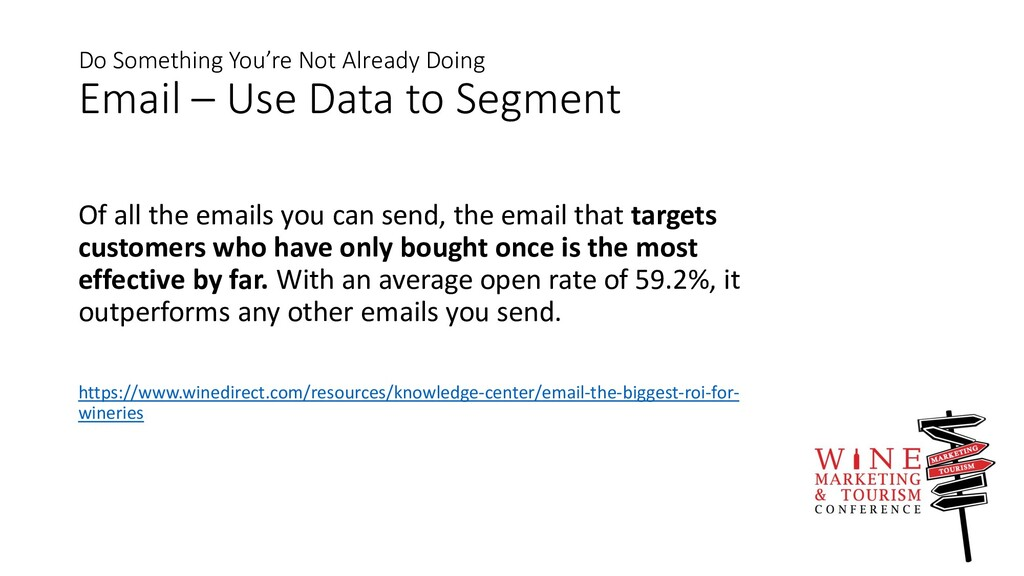 Do Something You're Not Already Doing Email – U...