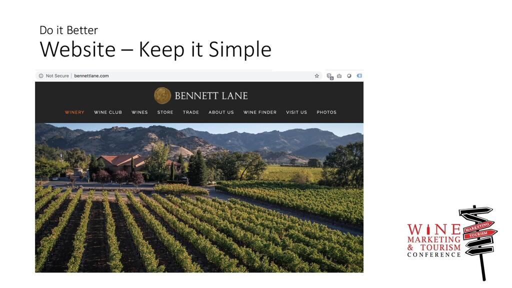 Do it Better Website – Keep it Simple