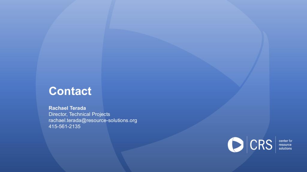 Contact Rachael Terada Director, Technical Proj...