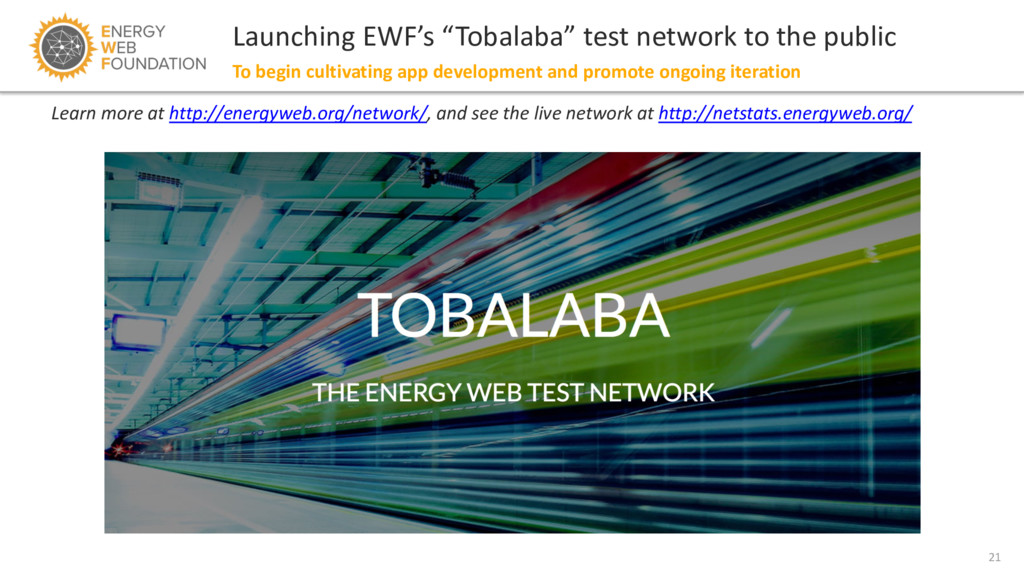 """21 Launching EWF's """"Tobalaba"""" test network to t..."""