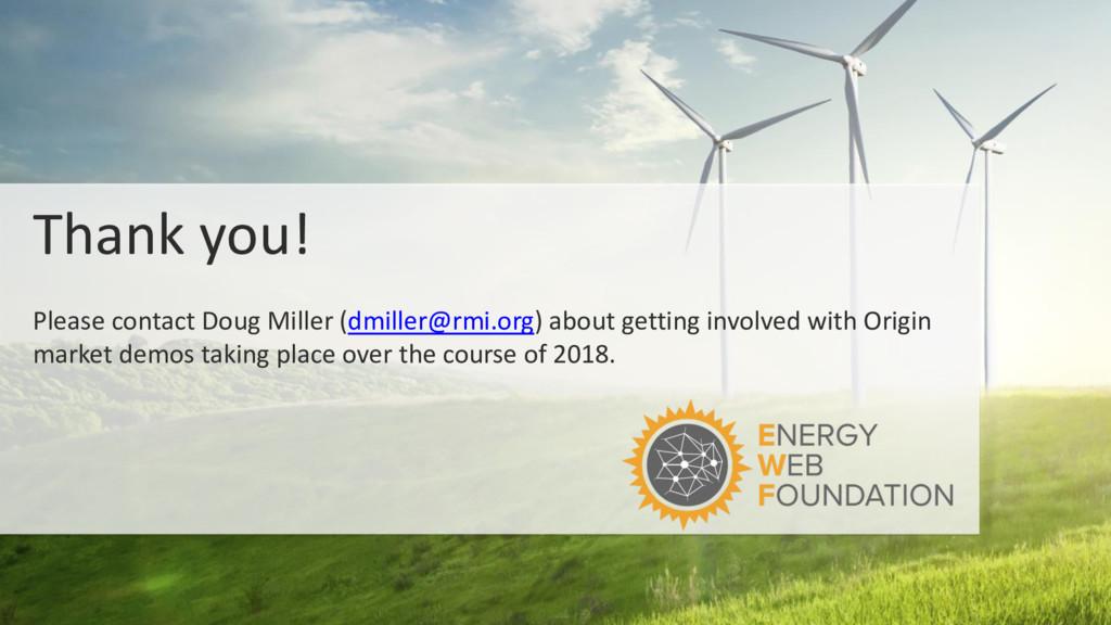 Thank you! Please contact Doug Miller (dmiller@...