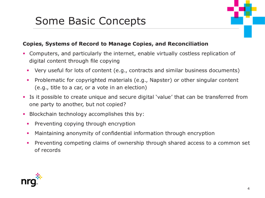 4 Some Basic Concepts Copies, Systems of Record...