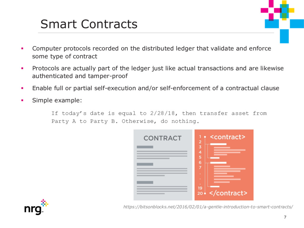 7 Smart Contracts § Computer protocols recorded...