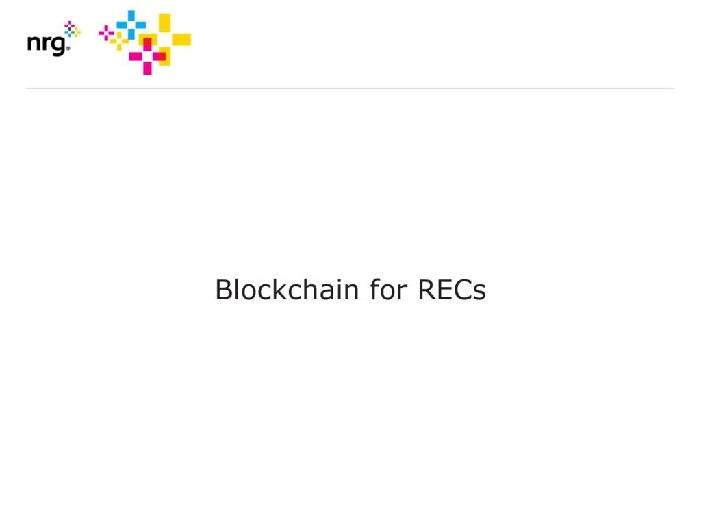 Blockchain for RECs