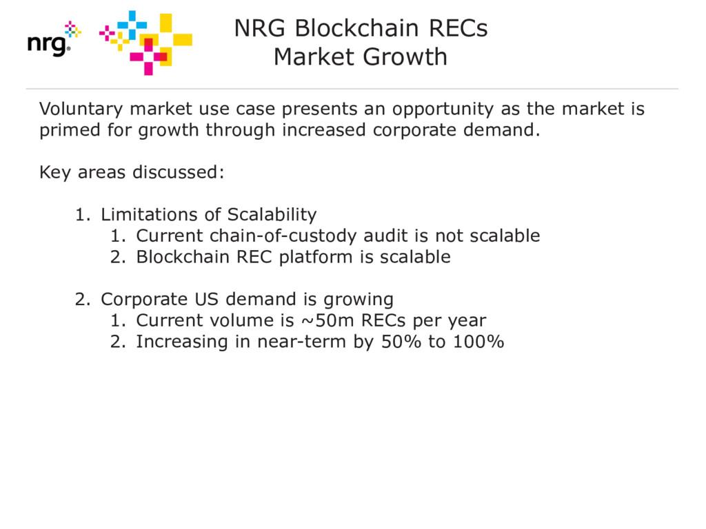 NRG Blockchain RECs Market Growth Voluntary mar...
